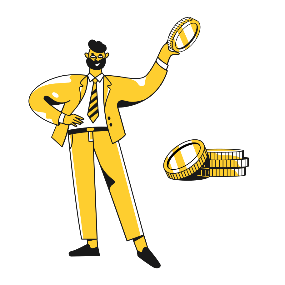 illustration taxi-successful-business
